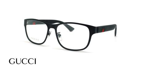 عینک طبی مستطیلی گوچی - GUCCI GG0013O - مشکی - عکاسی وحدت - زاویه سه رخ