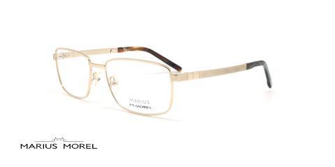 عینک طبی مستطیلی مورل - MARIUS MOREL 50004M - طلایی -عکاسی وحدت - زاویه سه رخ