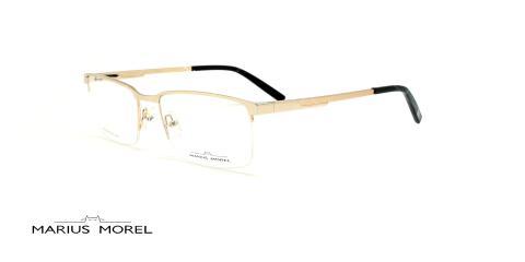 عینک طبی زیرگریف مورل - MARIUS MOREL 50014M -طلایی - عکاسی وحدت - زاویه سه رخ