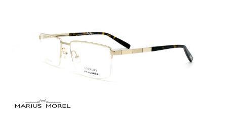 عینک طبی زیرگریف مورل - MARIUS MOREL 50020M - نقره ای - عکاسی وحدت  - زاویه سه رخ