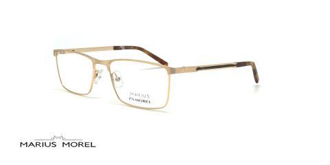 عینک طبی مستطیلی مورل - MARIUS MOREL 50037M - طلایی - عکاسی وحدت - زاویه سه رخ