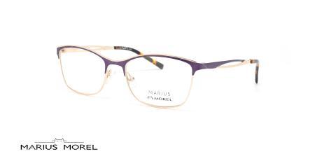 عینک طبی زیرگریف مورل - MARIUS MOREL 50042M - طلایی بنفش - عکاسی وحدت - زاویه سه رخ