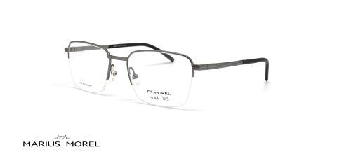عینک طبی شبه مستظیل زیر گریف مورل - MARIUS MOREL 50086M - عکس از زاویه سه رخ