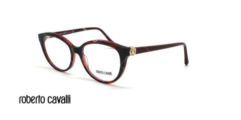عینک طبی گربه ای روبرتو کاوالی - ROBERTO CAVALLI MARRADI RC5073 - مشکی بنفش - عکاسی وحدت - زاویه سه رخ