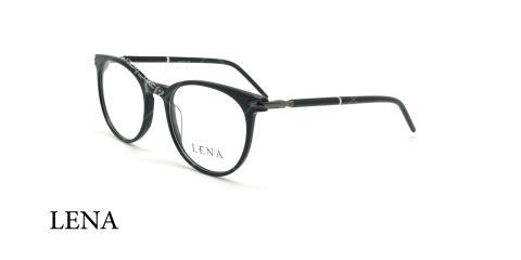 عینک طبی گرد لنا - LENA LE520 - مشکی - عکاسی وحدت - زاویه سه رخ