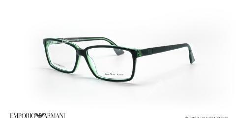 عینک طبی مستطیلی امپریو آرمانی - Emporio Armani EA9674 - مشکی سبز - عکاسی وحدت - زاویه سه رخ