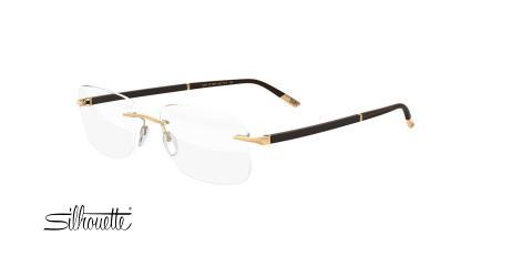 عینک طبی گریف سیلوئت - 5424 Silhouette Gold - طلایی مشکی - عکاسی وحدت - زاویه سه رخ