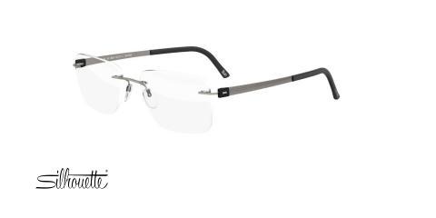 عینک طبی گریف سیلوئت - 5446 Silhouette - طوسی - عکاسی وحدت - زاویه سه رخ
