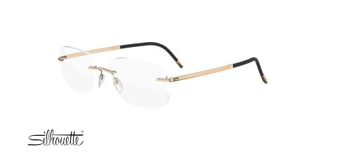 عینک طبی گریف سیلوئت - 5471 Silhouette GOLD - طلایی - عکاسی وحدت - زاویه سه رخ