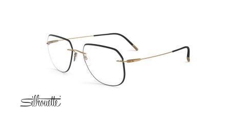 عینک طبی خلبانی سیلوئت - 5500 Silhouette Titan - مشکی - عکاسی وحدت - زاویه سه رخ