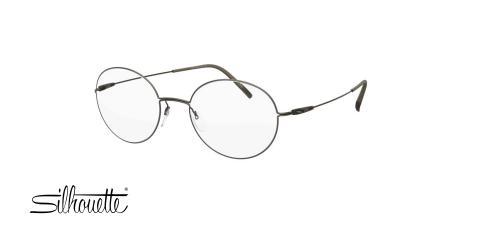 عینک طبی گرد سیلوئت - Silhouette 5509 -طوسی آبی-طوسی- عکس زاویه سه رخ