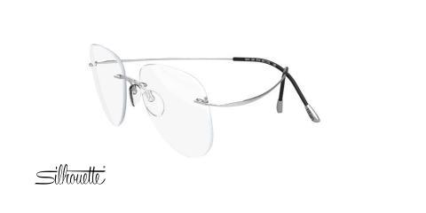 عینک طبی گریف سیلوئت - 5515 Silhouette TMA - نقره ای - عکاسی وحدت - زاویه سه رخ