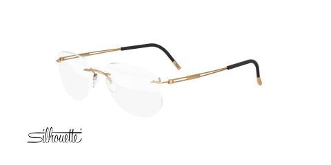 عینک طبی خلبانی سیلوئت - 5521 Silhouette Titan - طلایی - عکاسی وحدت - زاویه سه رخ