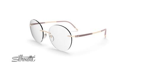 عینک طبی گریف گرد سیلوئت - 5540 Silhouette Titan - طلایی - عکاسی وحدت - زاویه سه رخ