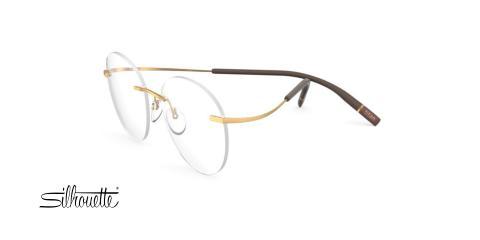 عینک طبی گریف بیضی سیلوئت - 5541 Silhouette Tma The Icon - طلایی - عکاسی وحدت - زاویه سه رخ