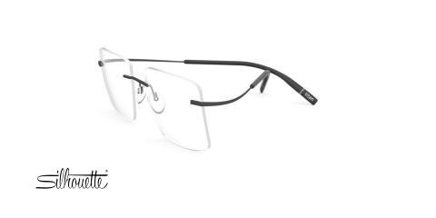 عینک طبی گریف مربعی سیلوئت - 5541 Silhouette Tma The Icon - مشکی - عکاسی وحدت - زاویه سه رخ