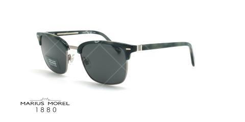 عینک آفتابی کلاب مستر ماریوس مورل Marius Morel 60020M- مشکی قهوه ای لاکپشتی - عکاسی وحدت - زاویه سه رخ