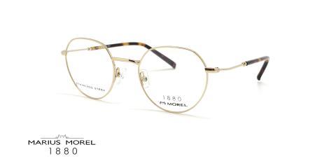 عینک طبی فلزی مورل1880 - MOREL 60074M - عکس از زاویه سه رخ