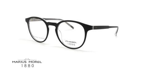 عینک طبی گرد مورل 1880 - MOREL 60093M - عکس از زاویه سه رخ