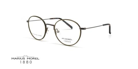 عینک طبی گرد مورل 1880- MARIUS MOREL 60100M - عکس از زاویه سه رخ
