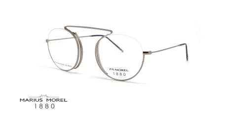 عینک طبی گرد مورل1880 - MOREL 60122M - عکس از زاویه سه رخ