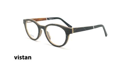 عینک طبی بیضی ویستان VISTAN 6111 - چوبی - عکاسی وحدت - زاویه سه رخ