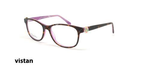 عینک طبی کائوچویی ویستان VISTAN 6264 - قهوه ای هاوانا - عکاسی وحدت - زاویه سه رخ
