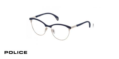 عینک طبی پلیس VPL629 - رنگ مشکی و طلایی-اپتیک وحدت-عکس زاویه سه رخ