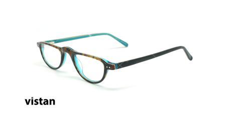 عینک مطالعه نیمه ویستان VISTAN 6460 - عکاسی وحدت - قهوه ای آبی - زاویه سه رخ