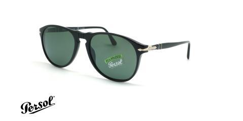 عینک آفتابی پولاریزه پرسول - Persol Polarized PO6649S - مشکی - عکاسی وحدت - زاویه سه رخ
