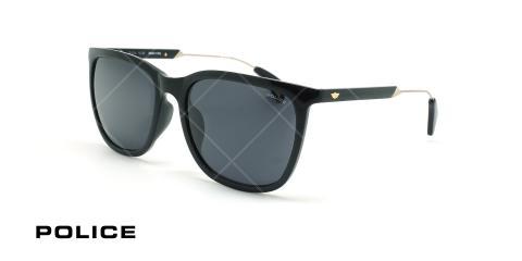 عینک آفتابی پلیس - POLICE SPL671G -فریم مشکی- عکاسی وحدت - زاویه سه رخ