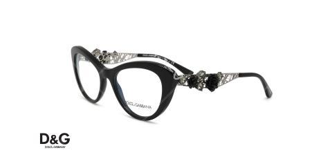 عینک طبی گربه ای دولچه و گابانا - DOLCE &GABBANA DG3265B - عکاسی وحدت - عکس زاویه سه رخ