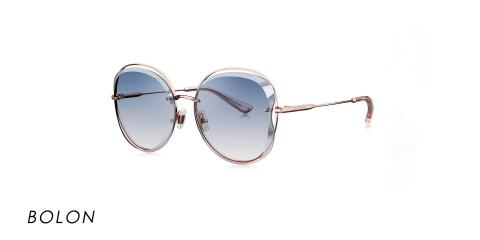 عینک آفتابی بولون - BOLON BL7052- عکاسی وحدت - رنگ طلایی و عدسی توسی طیف دار - عکس زاویه سه رخ