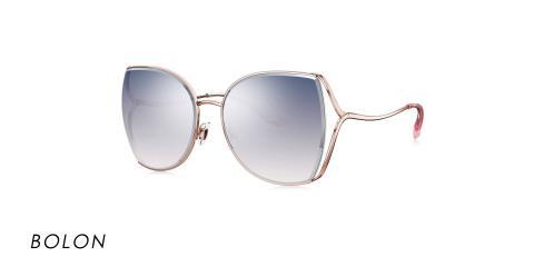 عینک آفتابی بولون - BOLON BL7082- رنگ طلایی و دودی طیف دار - عکاسی وحدت - عکس از زاویه سه رخ