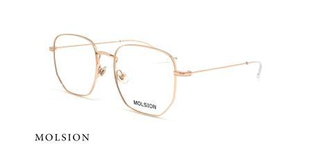عینک طبی چند ضلعی مولسیون - MOLSION MJ7086 - شامپاینی - عکاسی وحدت - زاویه سه رخ