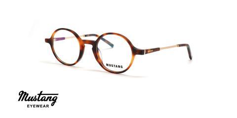 عینک طبی گرد موستانگ - MUSTANG MU7106 - عکاسی وحدت - عکس زاویه سه رخ