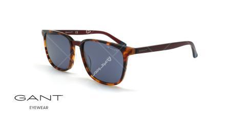 عینک آفتابی مربعی گانت -GANT GA7111 - قهوه ای هاوانا - عکاسی وحدت - زاویه سه رخ