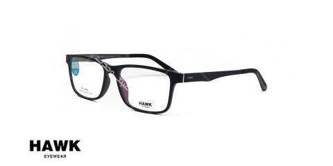 عینک طبی رویه دار هاوک - HAWK HW7187-رنگ مشکی - عکاسی وحدت - عکس از زاویه سه رخ