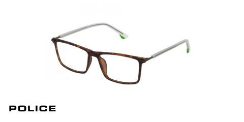 عینک طبی پلیس -POLICE VPL559 - رنگ فریم قهوه ای هاوانا - اپتیک وحدت - عکس زاویه سه رخ