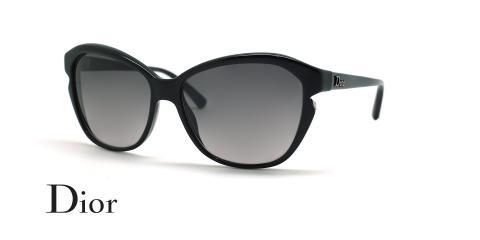 عینک آفتابی پروانه ای دیور - DIOR D28EU - مشکی - عکاسی وحدت - زاویه سه رخ