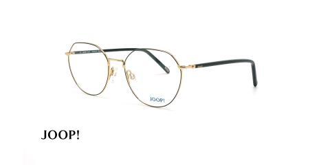 عینک طبی گرد جوپ - JOOP 83264 - مشکی طلایی - عکاسی وحدت - زاویه سه رخ