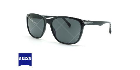 عینک آفتابی مربعی زایس ZEISS ZS91002 - مشکی - عکاسی وحدت - زاویه سه رخ