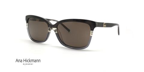 عینک آفتابی کائوچویی مشکی بخش پایینی شیشه ای آناهیکمن - زاویه سه رخ