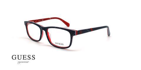 عینک طبی مستطیلی گس - GUESS GU9179 - مشکی قرمز - عکاسی وحدت - زاویه سه رخ