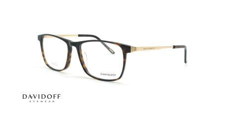 عینک طبی مربعی دیویدوف DAVIDOFF 92030 - قهوه ای هاوانا - عکاسی وحدت - زاویه سه رخ