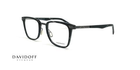 عینک طبی مربعی دیویدوف DAVIDOFF 92044 - مشکی مات - عکاسی وحدت - زاویه سه رخ