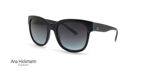 عینک آفتابی آناهیکمن کائوچویی مشکی رنگ - عکاسی عینک وحدت - زاویه سه رخ