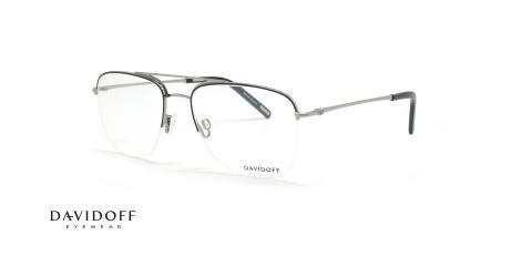 عینک طبی زیرگریف دیویدوف DAVIDOFF 93078 - نقره ای -  عکاسی وحدت - زاویه سه رخ