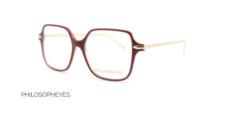عینک طبی مربعی فیلسوفایز - PHILOSOPHEYES PHP932-رنگ قرمز-عکاسی وحدت-عکس زاویه سه رخ