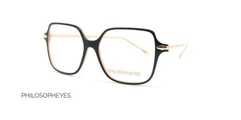 عینک طبی مربعی فیلسوفایز - PHILOSOPHEYES PHP932-رنگ مشکی-عکاسی وحدت-عکس زاویه سه رخ